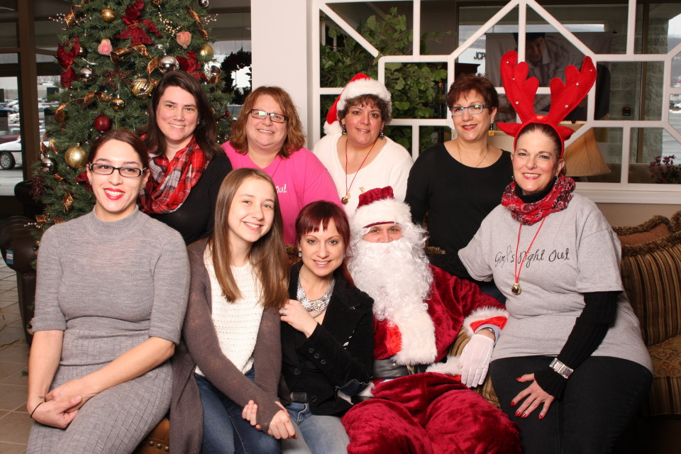 Girls Night Out Scranton, GNOSCRANTON, Raymour and Flannigan, Santa Pictures