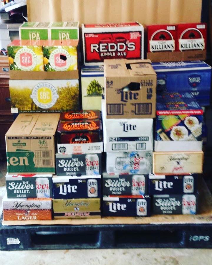 Variety of 50 cases of beer to be split between our beer pallet raffle winners!